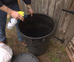 Tip for Disinfecting Outdoor Trash Can