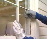 removing broken window pane