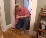 Cleaning paint drips off hardwood floor