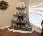holiday display shelves