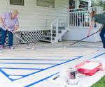 How to Create a Painted Rug on Concrete – Today's Homeowner