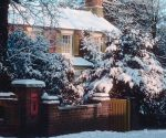 House with snow around it